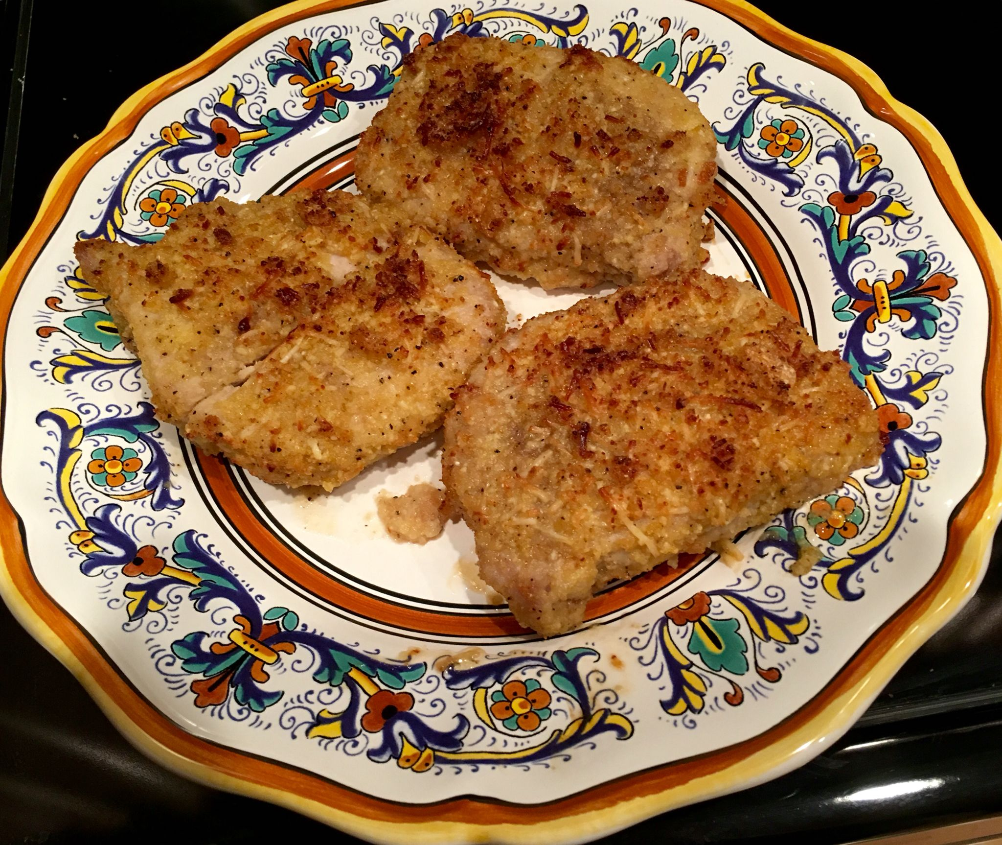 Low Carb Shake And Bake Pork Chops Rub Pork Chops In Mayo Mix Ground Pork  Rinds How To Cook