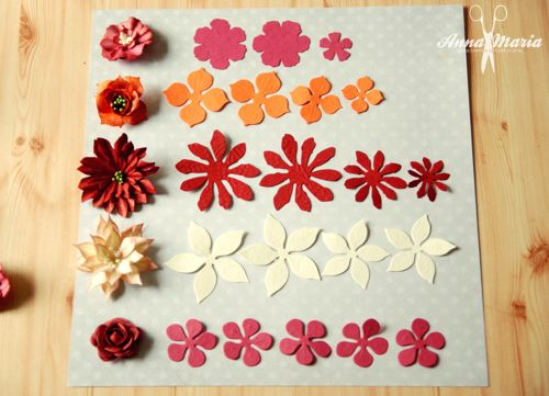 Pracownia Annamaria Kwiatki Z Papieru Kurs Jak Wykonac Paper Flower Template Paper Flower Tutorial Flower Template