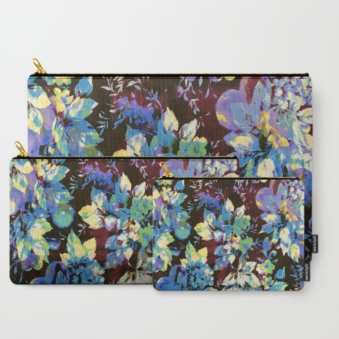 multicolored floral Carry-All Pouch