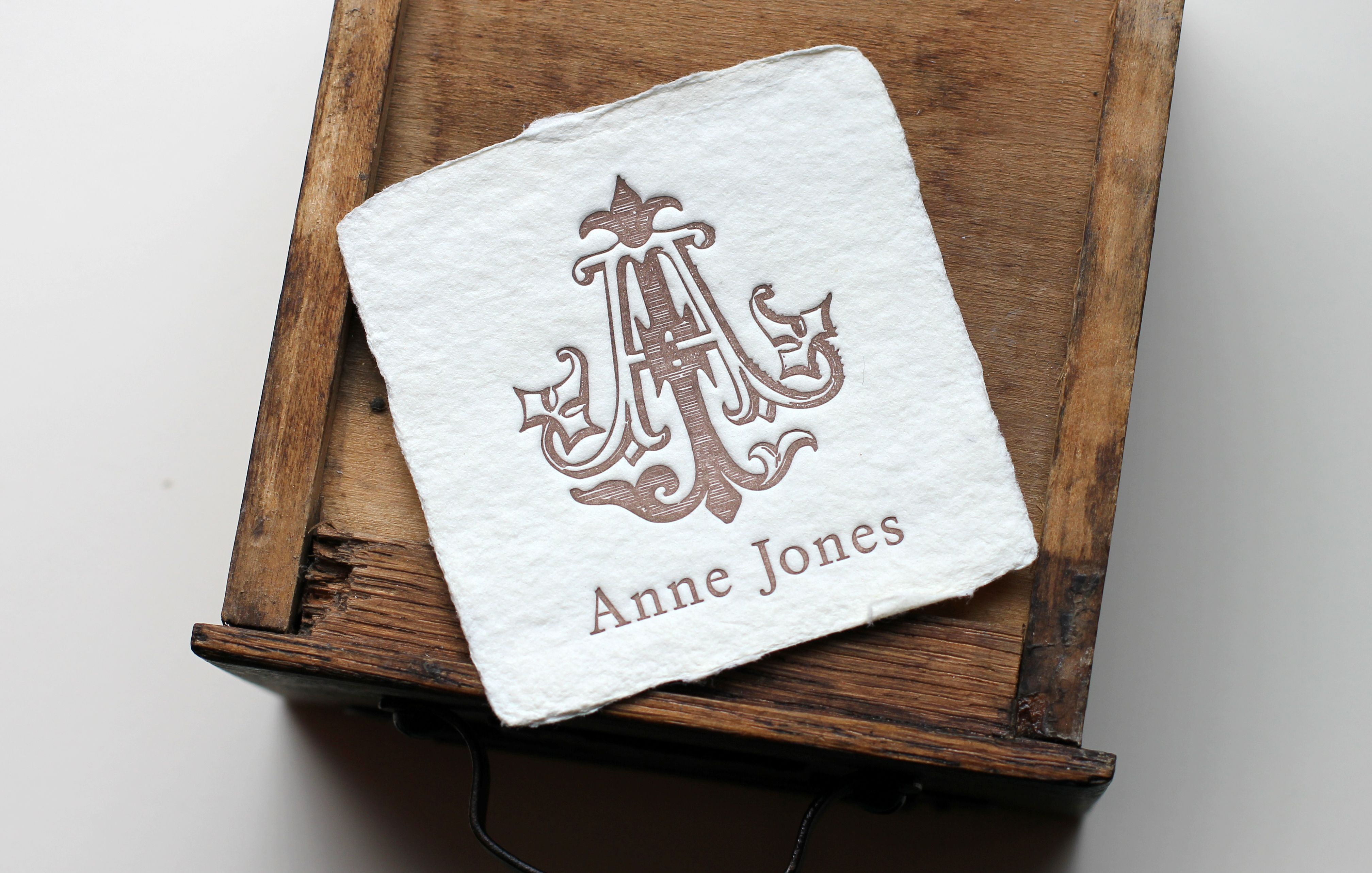 letterpress business card on handmade paper oblation papers and