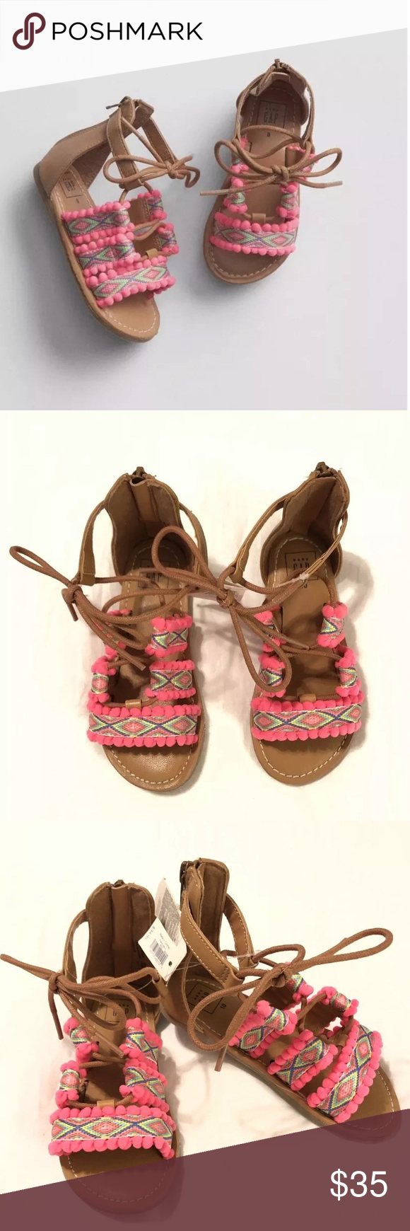 SUGAR LOLLIPOP Red Kids Lace Up Flats Pom Pom Velvet Zip Up Shoes Girls NEW