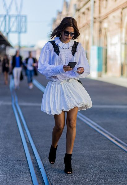 Christine Centenera outside Bec Bridge at MercedesBenz Fashion Week Resort 17 Collections at Carriageworks on May 17 2016 in Sydney Australia
