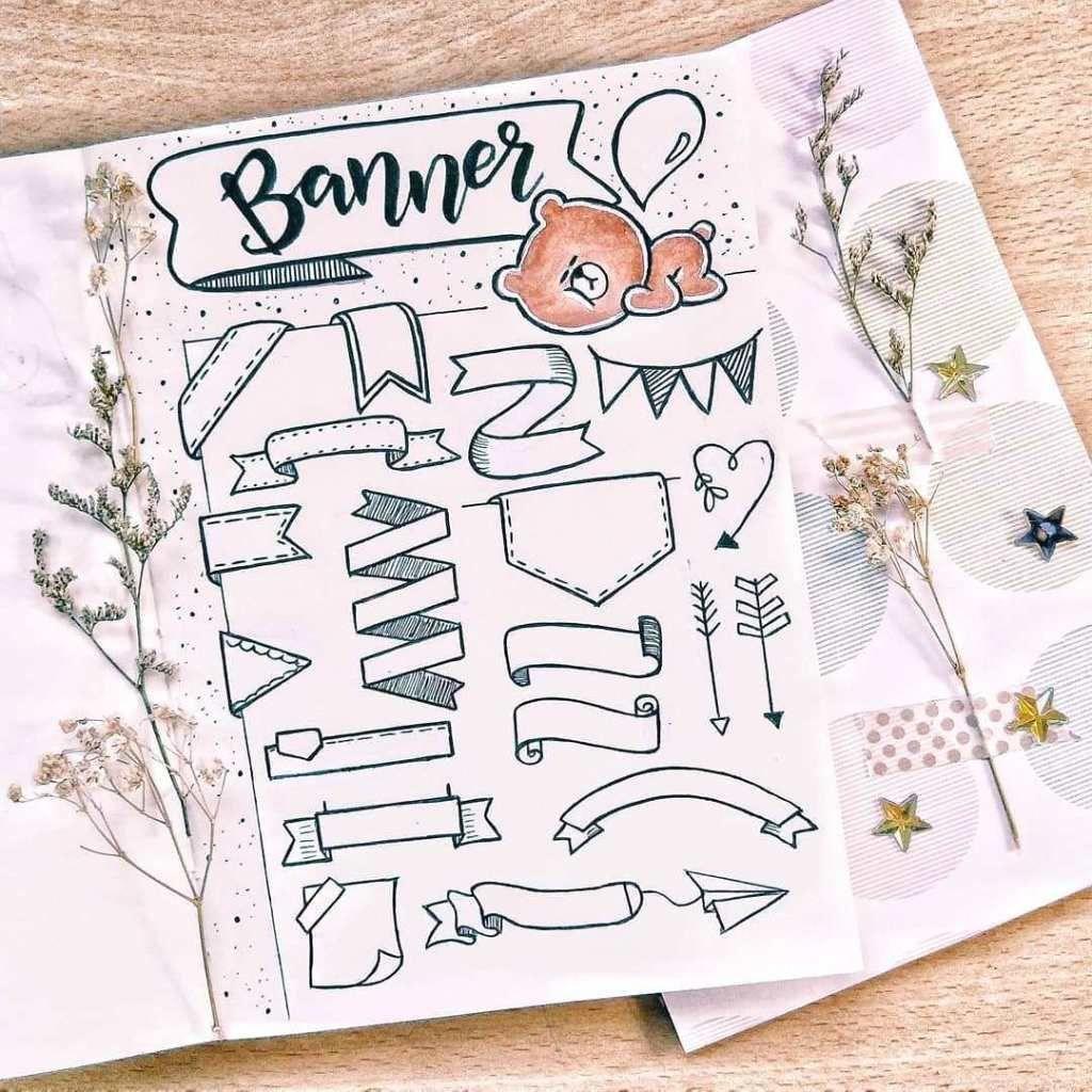 35 Bullet Journal How to Doodle Tutorials (1) Ten