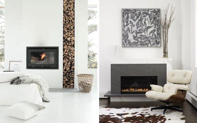 30 ideas para decorar un rinc n chimenea living room for Chimenea lena empotrada