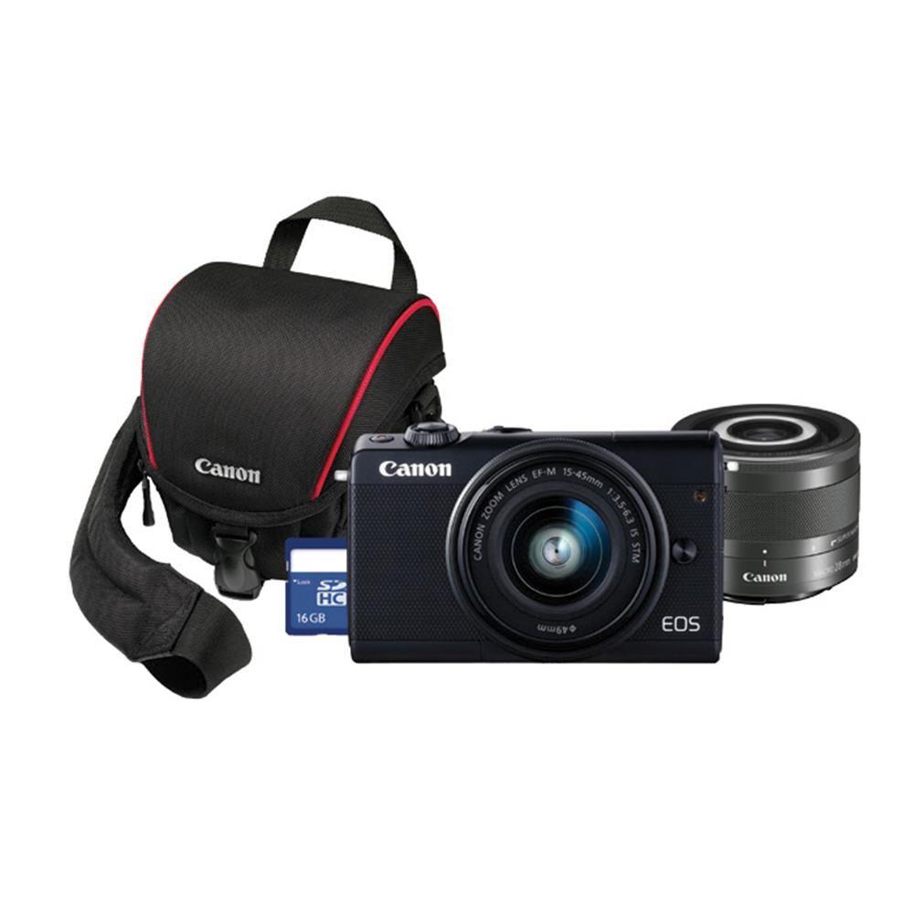 Henrys Com Canon Eos M100 W 15 45mm 28mm Bag Card Camera Store Eos Top Camera