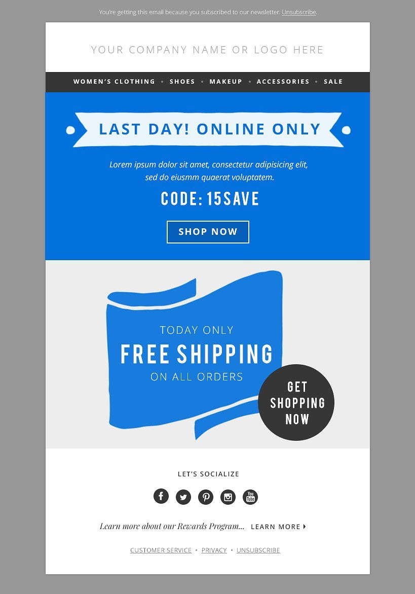 Fashion Email Template Psd Bundle Template And Fonts