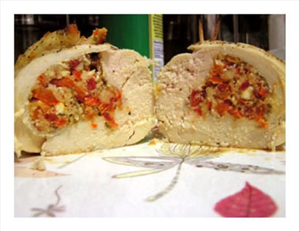 Chicken Breast Stuffed With Feta Cheese, Sun-Dried Tomato. Trying this tonight!