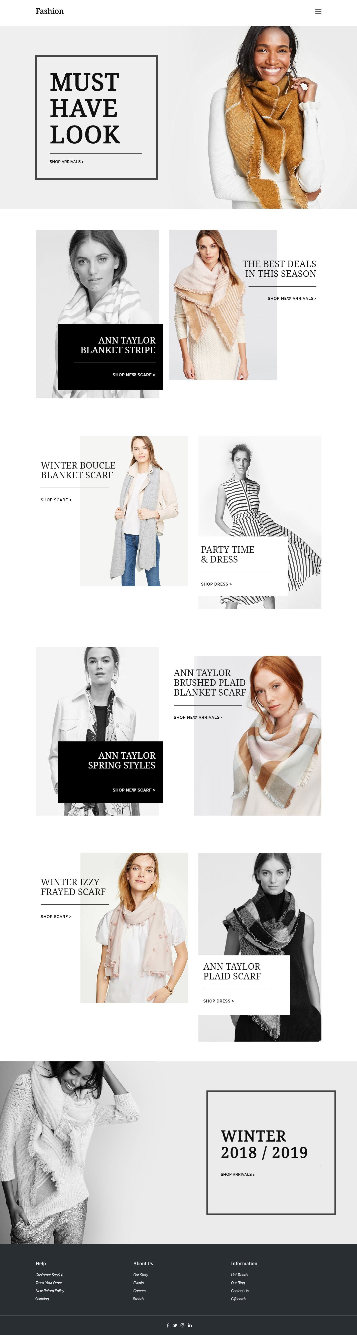 Fashion Web Template and start edit this web template