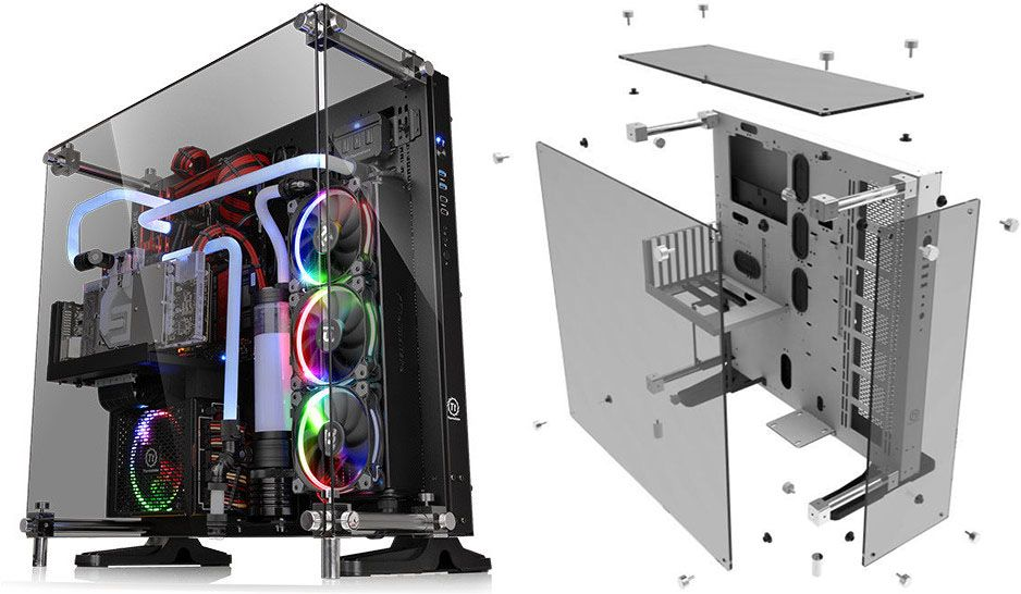Thermaltake Has Launched Its Latest Core P5 Series The Core P5 Tempered Glass Edition Atx Wall Mount Chassis And The Core P5 Tempered Glass Snow Edition Atx Wa