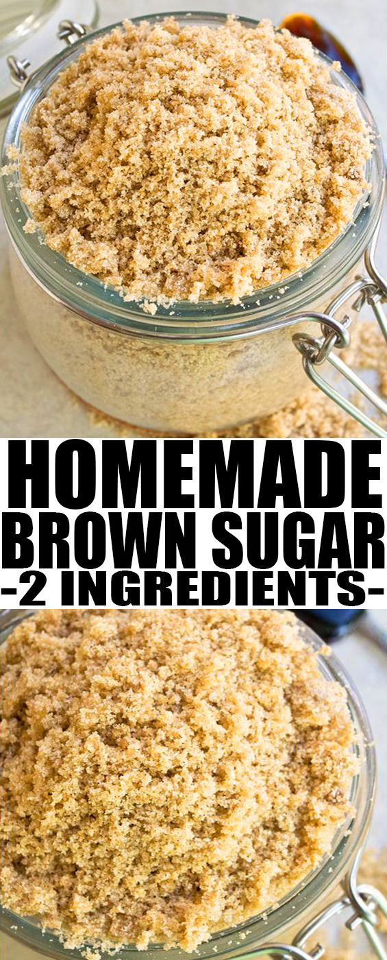 Learn How To Make Homemade Brown Sugar With Only 2 Ingredients