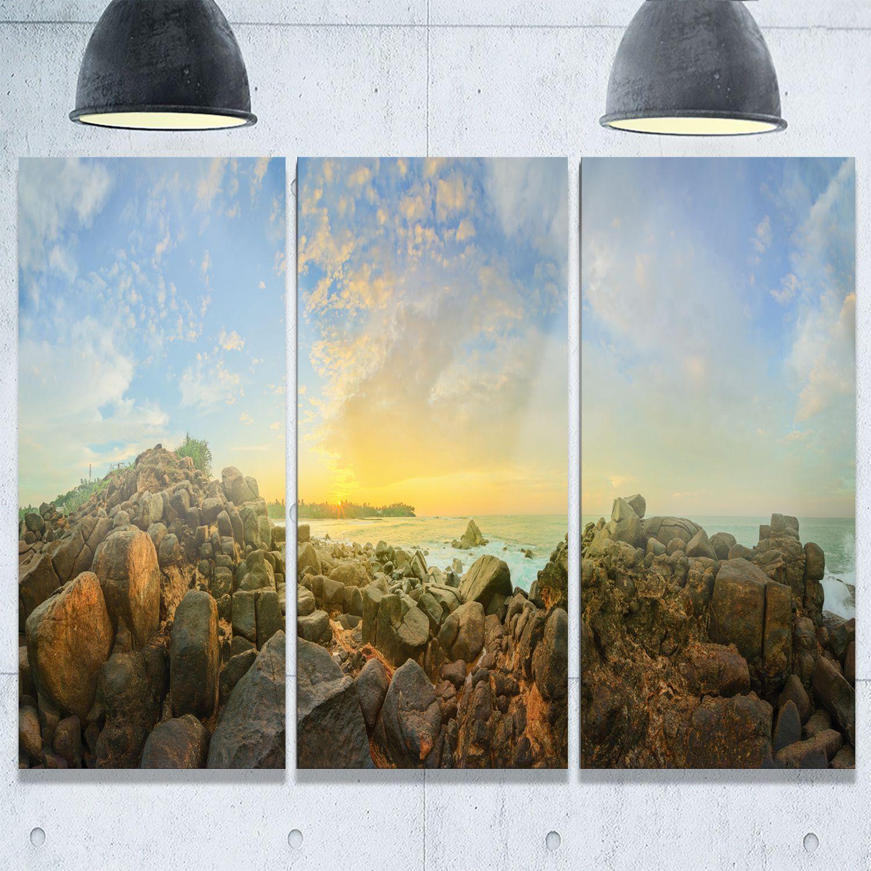 Designart sri lanka romantic beach panorama large seascape