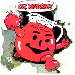 Loved Watching The Kool Aid Man Bust Down Walls And Used To Have A Video Game Of This Too Kool Aid Kool Aid Man Childhood Memories
