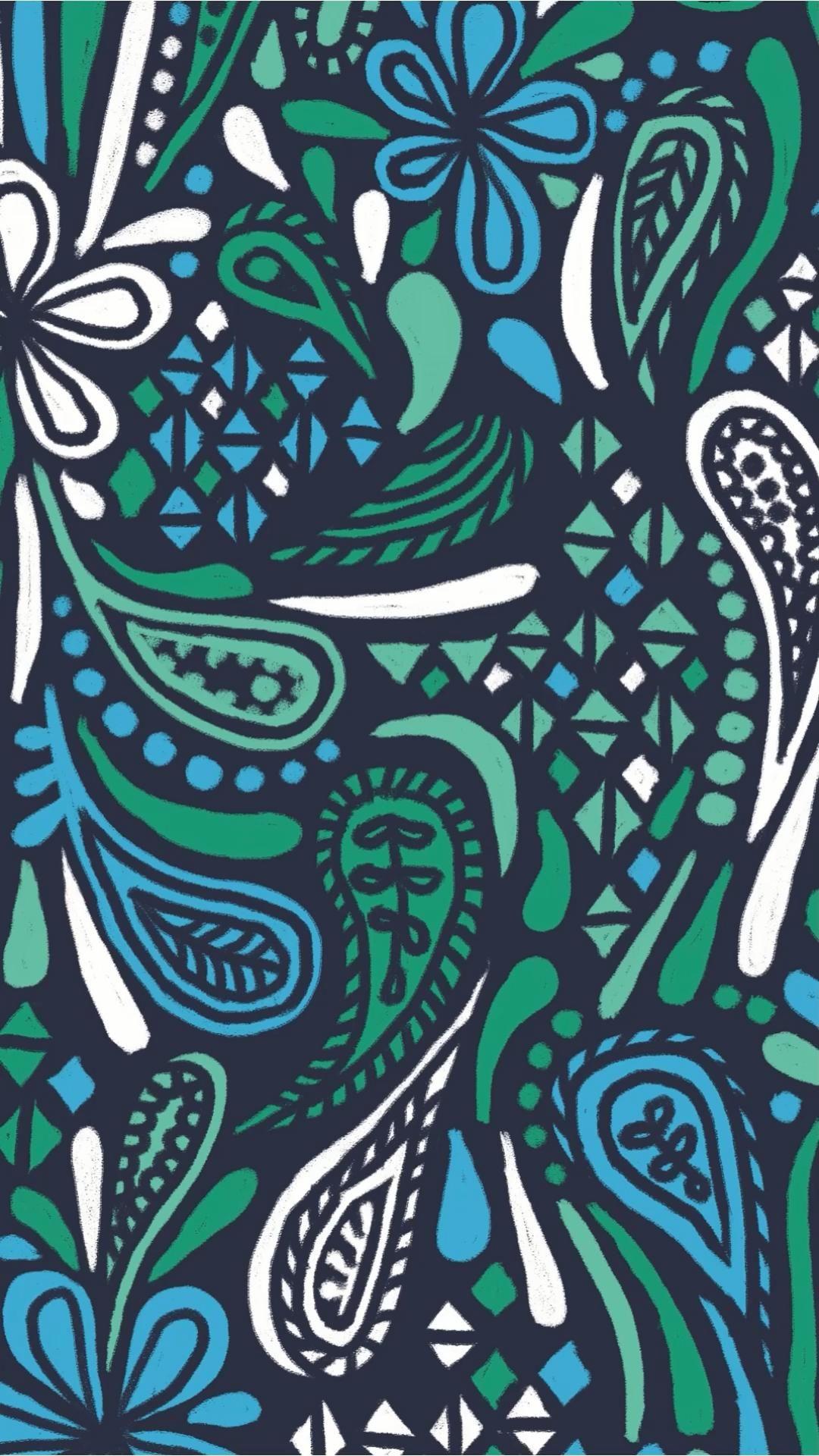 Ocean Paisley Digital Painting