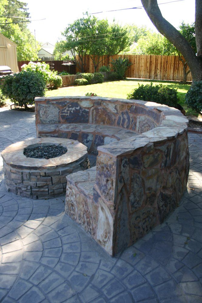 Admirable Curved Stone Seating Google Search California Backyard Gmtry Best Dining Table And Chair Ideas Images Gmtryco