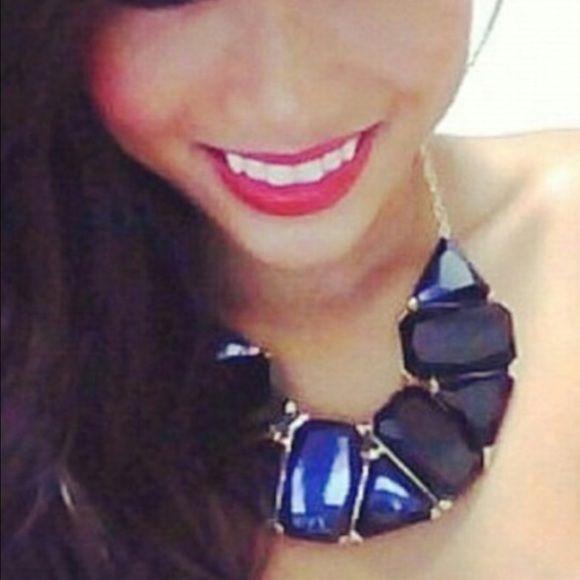 Black bib statement necklace Black bib statement necklace. Worn a few times. Jewelry Necklaces