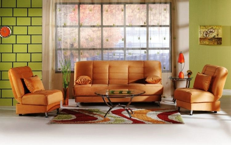 Canapé orange un meuble original pour le salon Pinterest