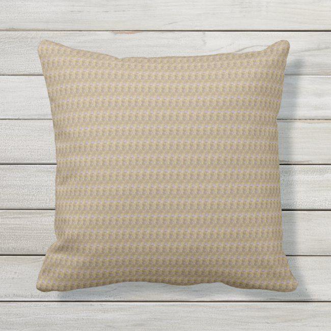 Khaki Weave Print Outdoor Pillow 16x16 #garden #pillows #porch #patio #contemporary#botanical #gifts #gardenstyle #flowers #vintage #floral