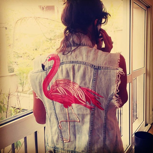 @nathyabiackel com Colete Flamingo