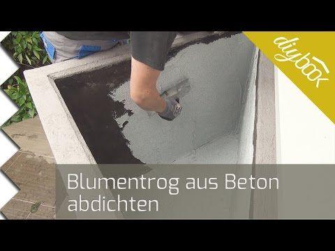 Blumentrog Aus Beton Abdichten Abdichten Dammen Diybook At