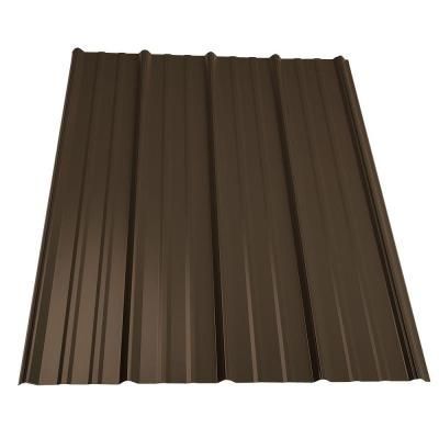 Fabral Evergreen Shelterguard 36 In X 10 Ft Galvanized Steel Roof Panel 0410116176 The Home Depot Corrugated Metal Roof Roof Panels Steel Roof Panels