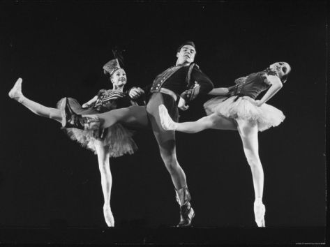 "Dancers Jacques D'Amboise and Suki Schorr in NYC Ballet Production of ""Stars and Stripes"""