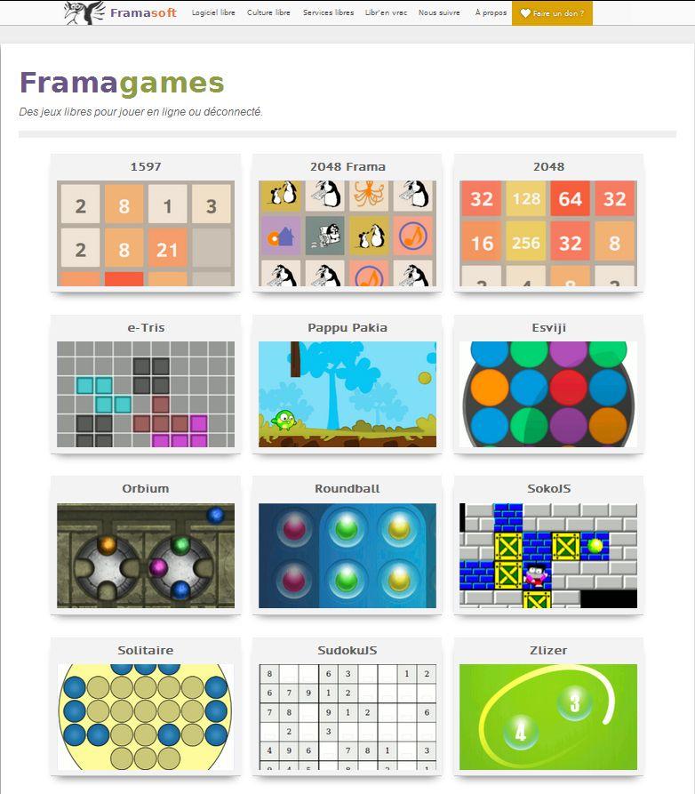 Framagames A Jouer En Ligne Ou A Telecharger Jeuxlibres Merci Framasoft Tuicnumerique
