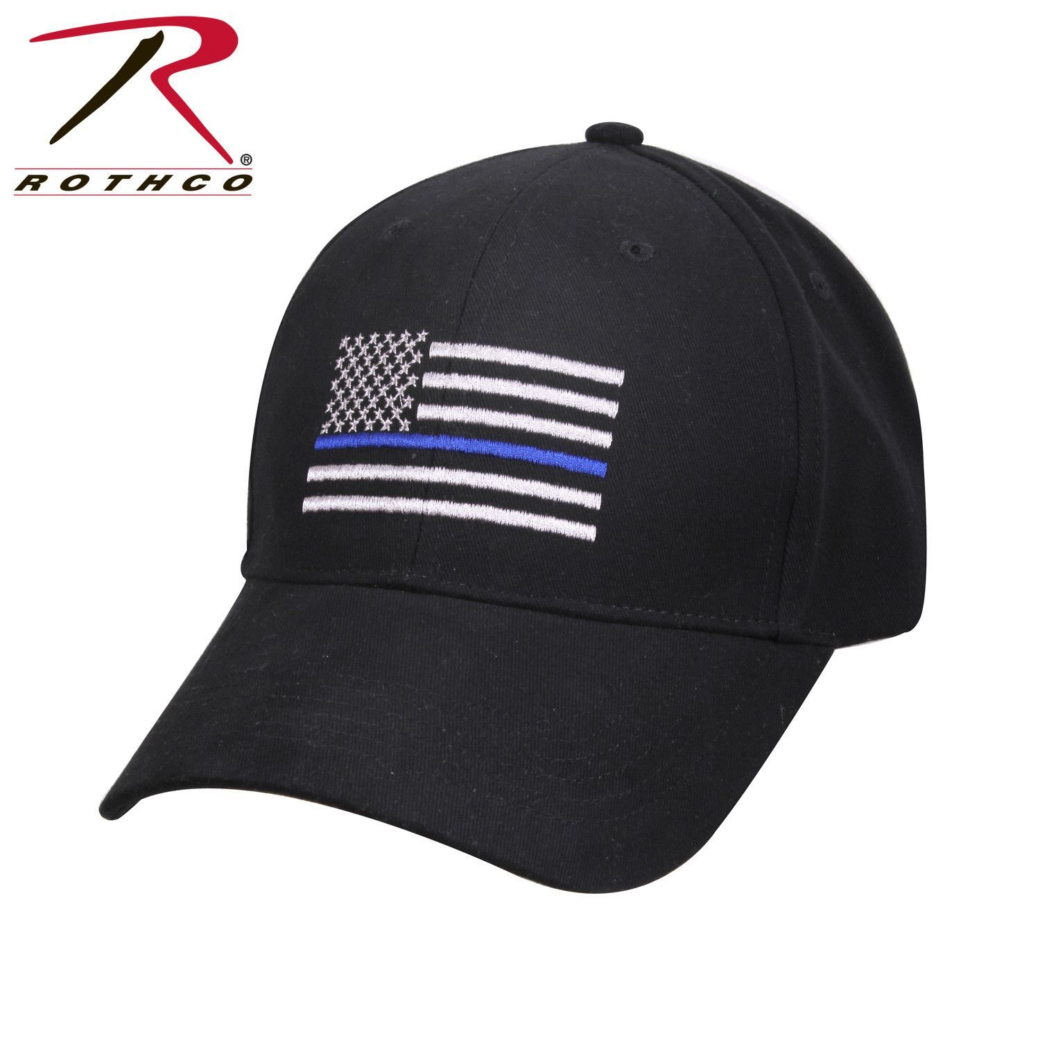 Rothco Thin Blue Line Flag Low Profile Cap Flags Flag Patches And Cap