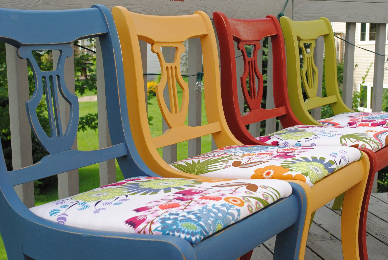 Colorful dining chairs chairs design ideas