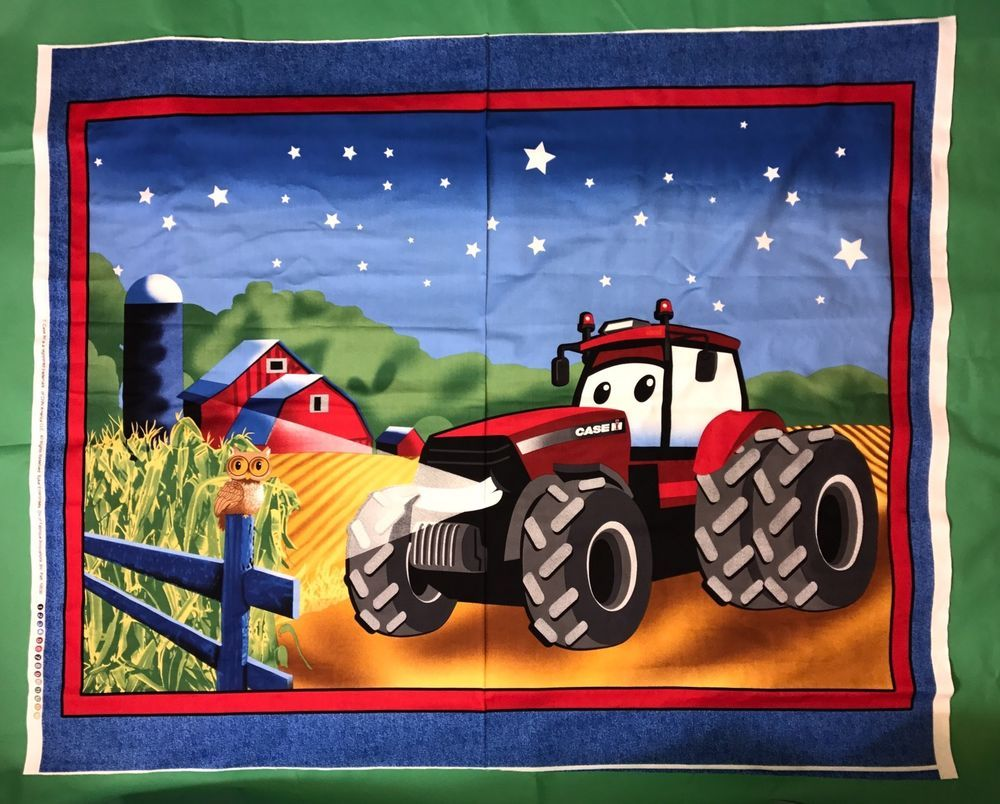 Case International Harvester Big Red Tractor Coordinating Fabrics bty