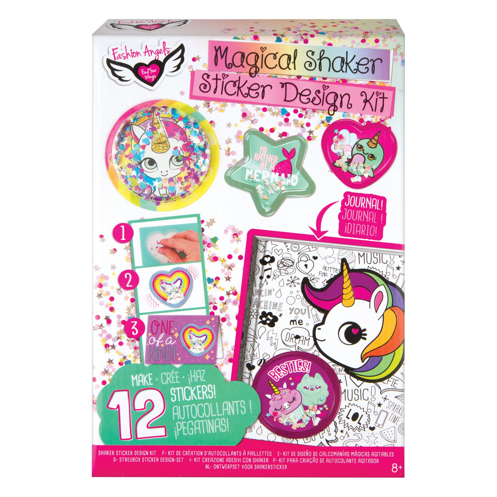 Fashion Angels Magical Sequin Shaker Sticker Design Kit Fashion Angels Sticker Design Sticker Kits