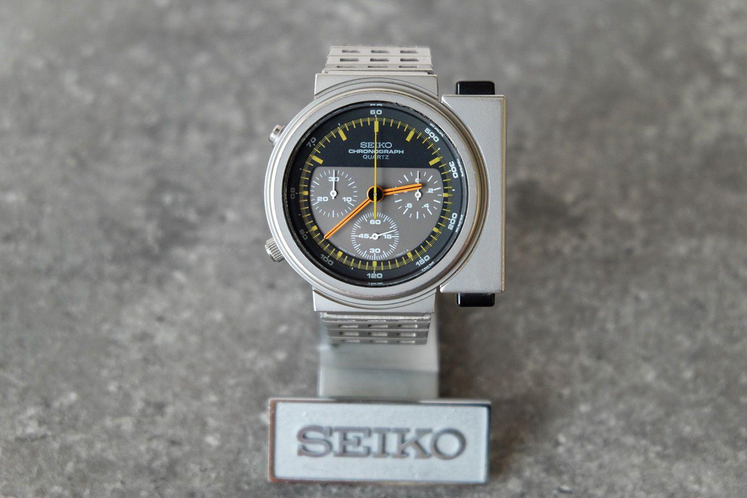 7306fb97f82 SEIKO 7A28 - 7000 GIUGIARO Ripley Alien Speedmaster Chronograph Vintage  Watch