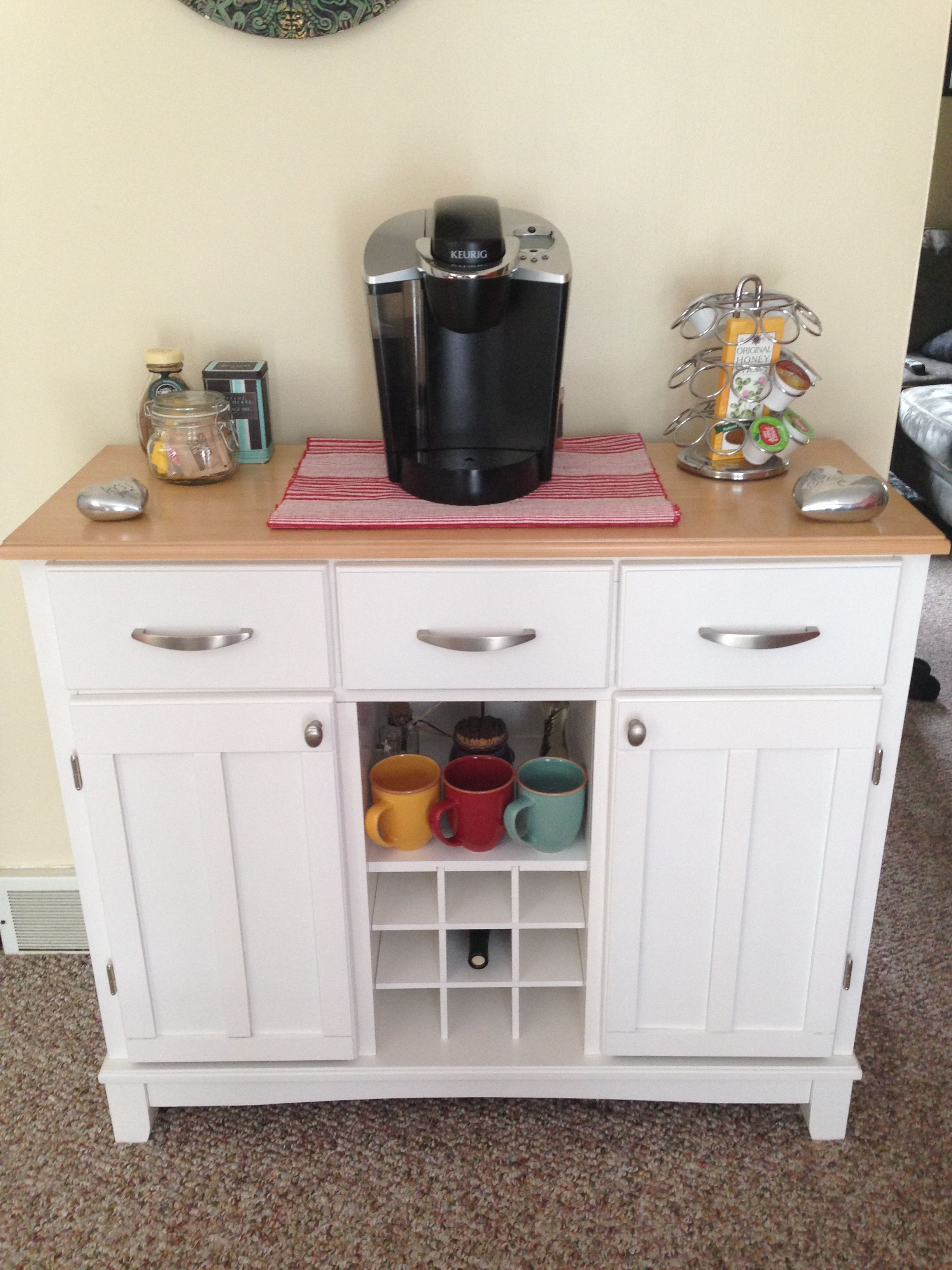 Cute kitchen coffee station. Cleared up some room on my counters ...