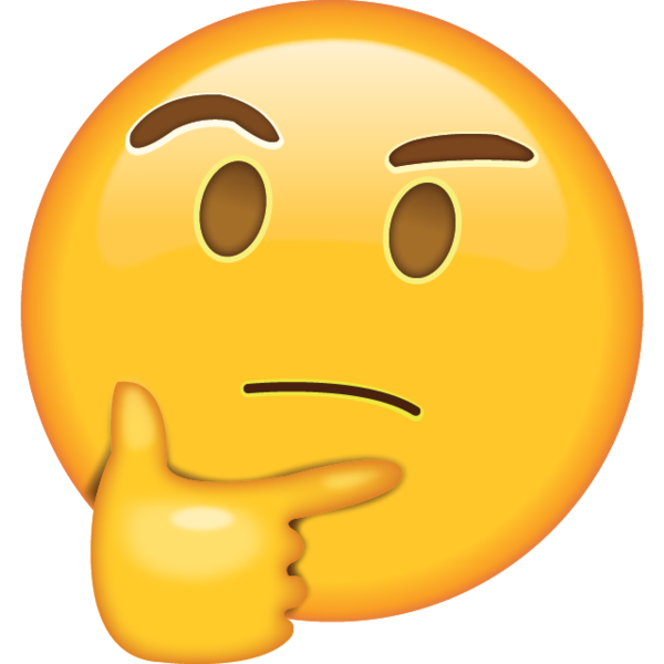 Image result for thinking emoji transparent