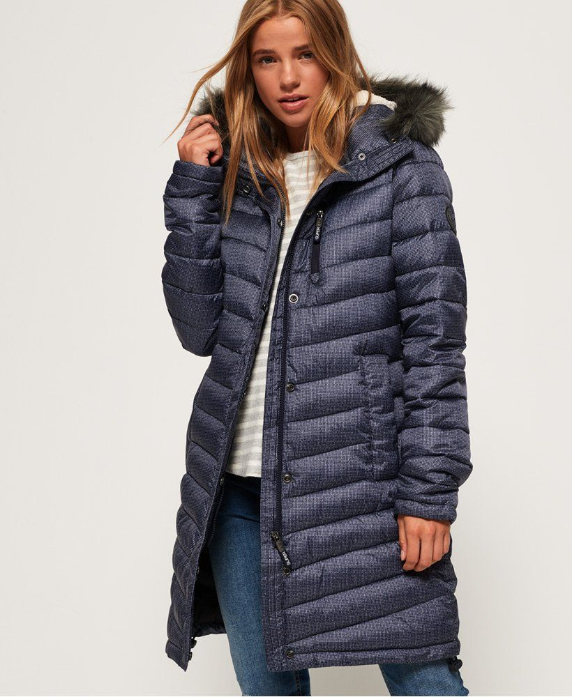 Superdry Chevron Faux Fur Super Fuji Jacket | Jackets