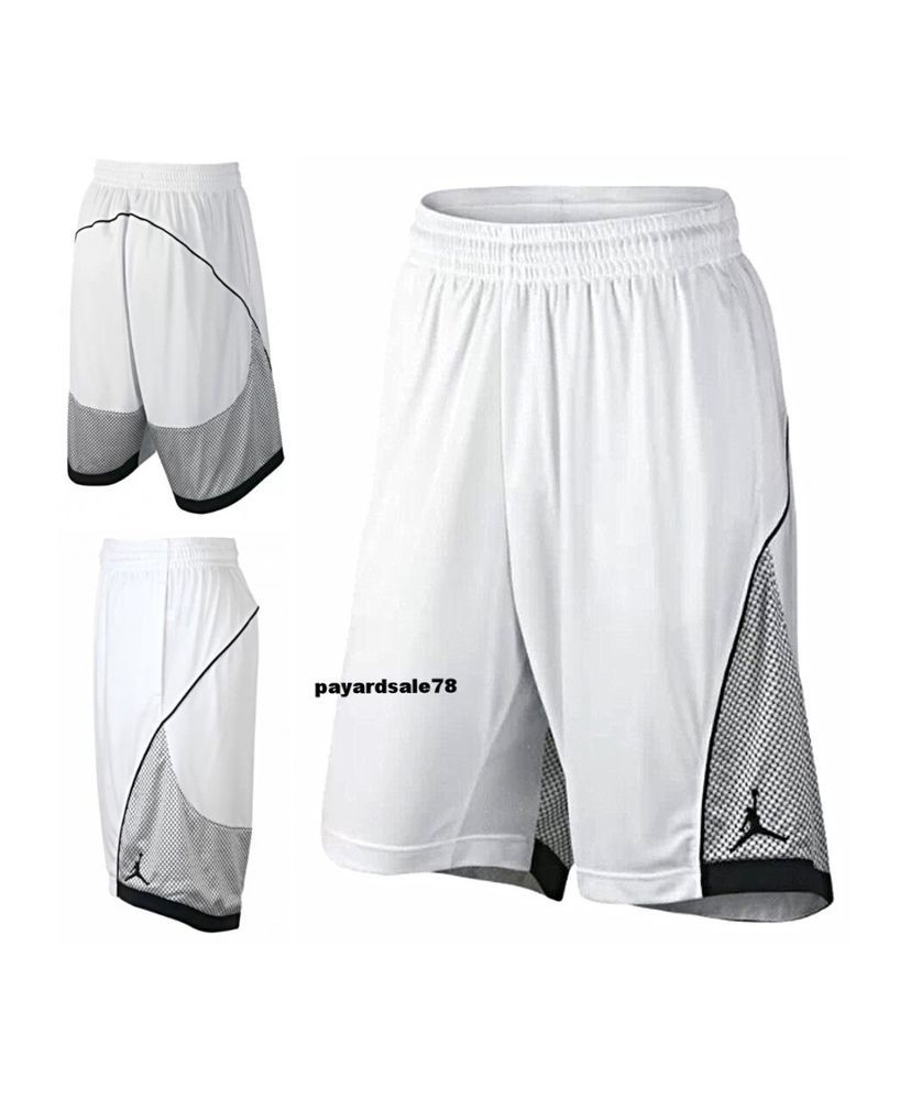 744e43885669 NIKE JORDAN BASKETBALL SHORTS WHITE BLACK SIZE LARGE FLIGHT PREMIUM DRI-FIT  MEN  Nike  Shorts