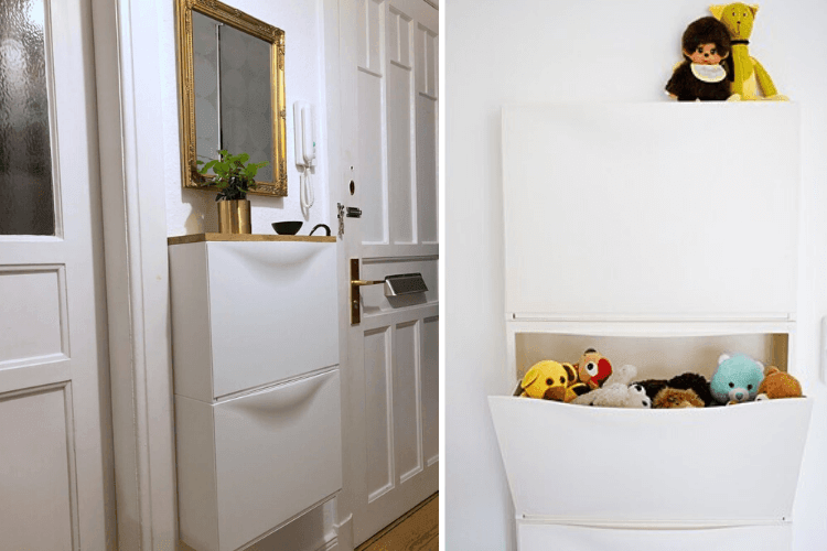 8 Rooms That Love An Ikea Wall Mounted Shoe Cabinet Ikea Hackers Ikea Wall Ikea Ikea Hackers