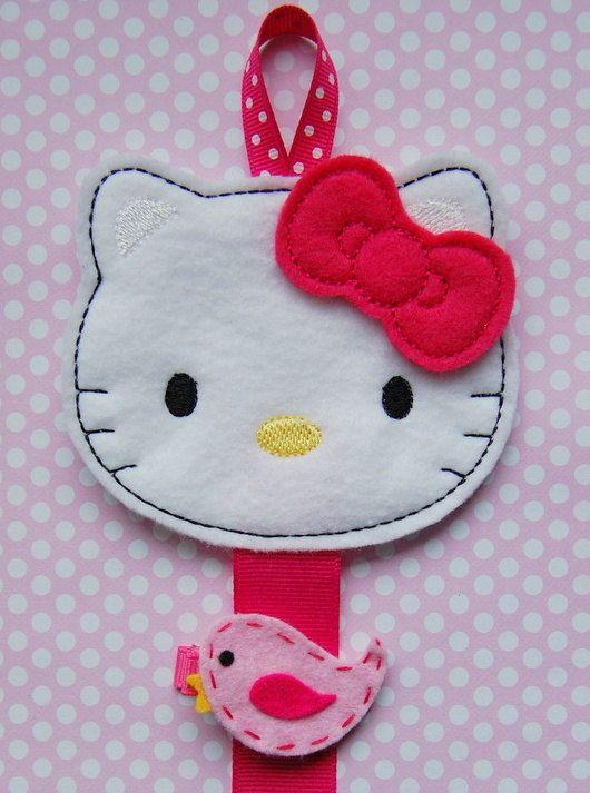 Hello Kitty Inspired Hair Clip Holder - Pink- Clippie Keeper - Hair Clip Organizer - Hair Bow Holder - Hair Clip Holder. $6.95, via Etsy.