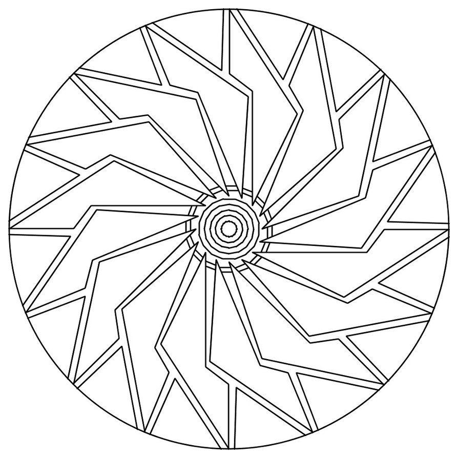 Mandala 105 By Sadadoki On Deviantart Mandala Coloring Pages Abstract Coloring Pages Mandala Coloring