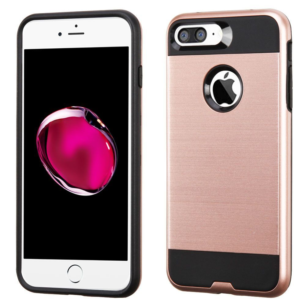 MYBAT Merge Brushed iPhone 7 Plus Case - Rose Gold/Black