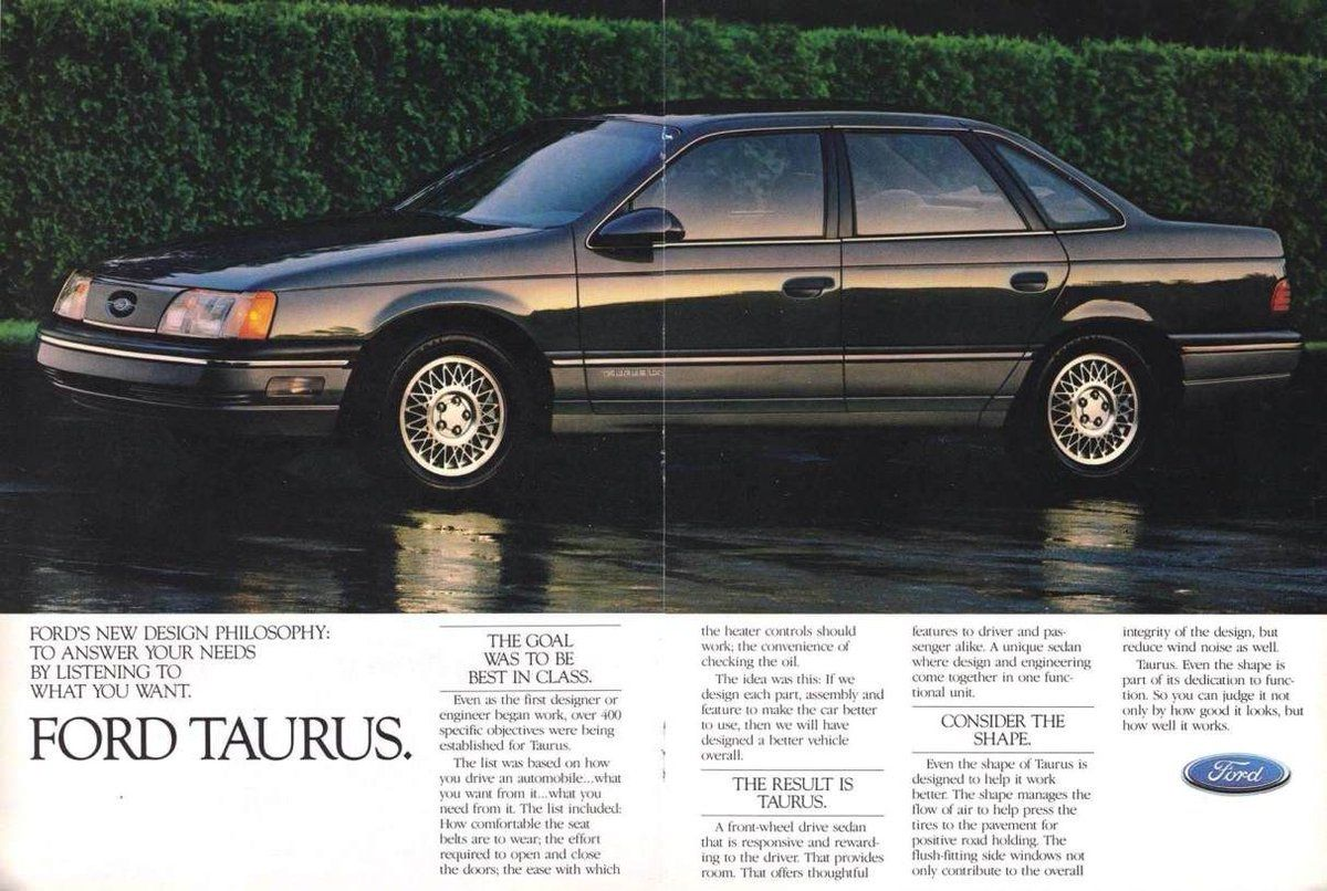 December 1 1985 Ford Motor Company Introduces The Ford Taurus And