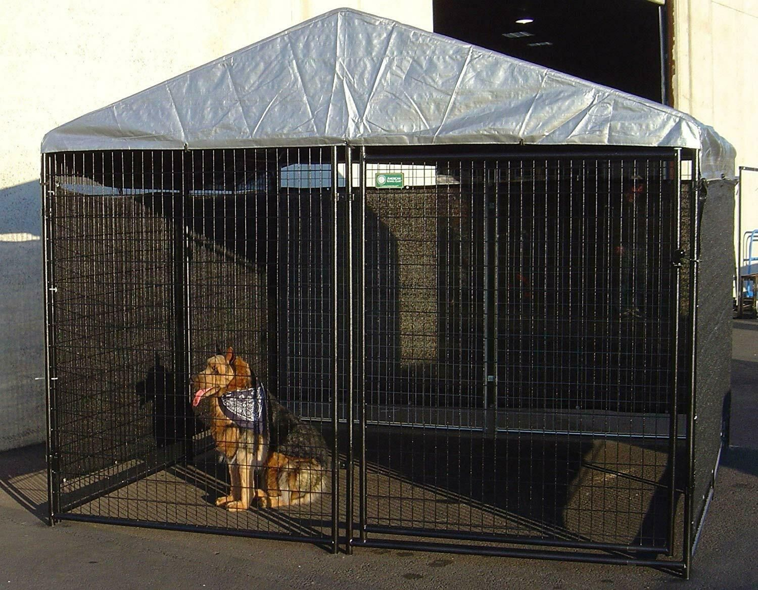 Big Dog Kennel Cage X Pet Wind Screen Extra Large Outdoor Heavy Duty Portable N 313099694662 Ebay Dog Kennel Cover Big Dog Kennels Dog Kennel