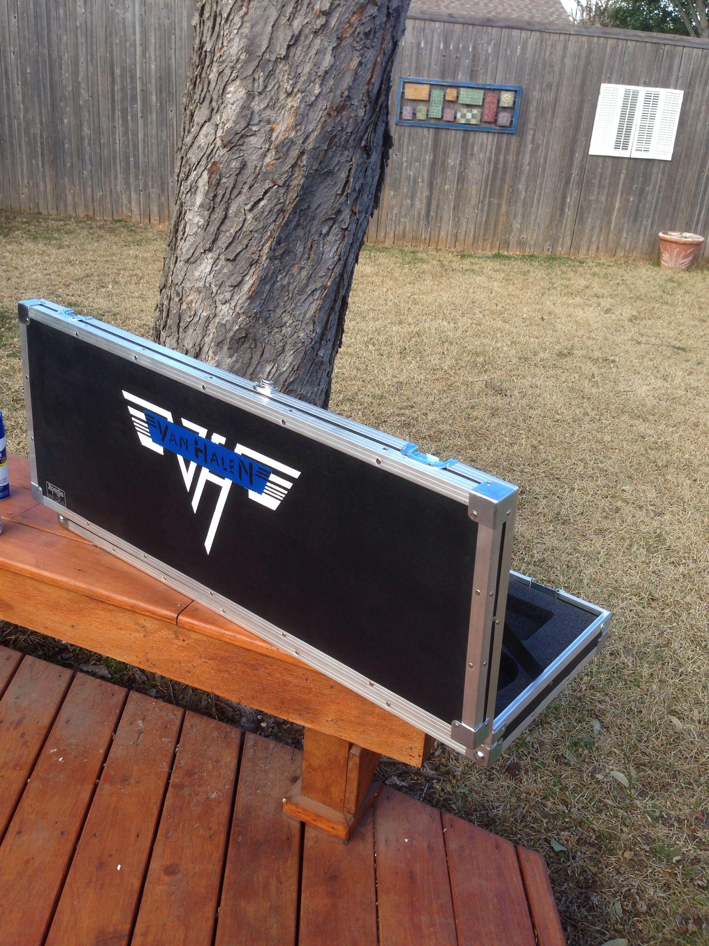 Van Halen logo on the guitar case. Van halen logo, Van
