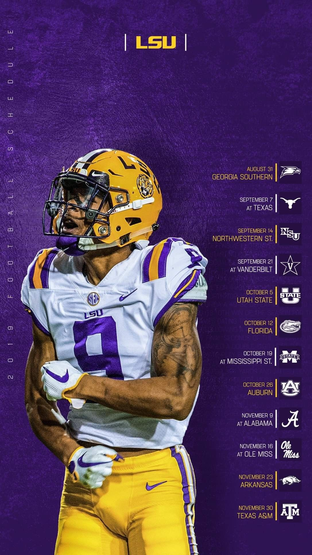 Pin By Drunken Chef On Geaux Tigers College Sports Graphics Sports Design Inspiration Football Design