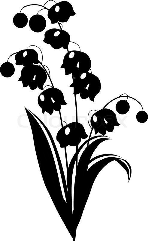 Stock-Vektor von \'Stilisierte schwarzen und weißen Blume auf weißem ...