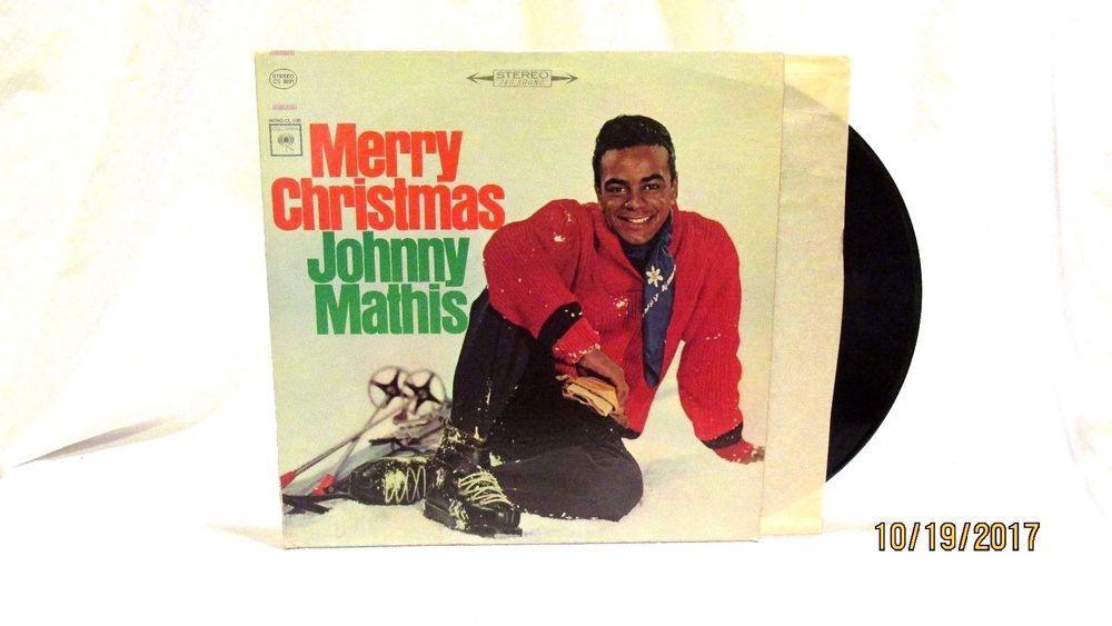 1960s johnny mathis merry christmas columbia lp 33 vinyl record cs 8021 - Johnny Mathis Merry Christmas