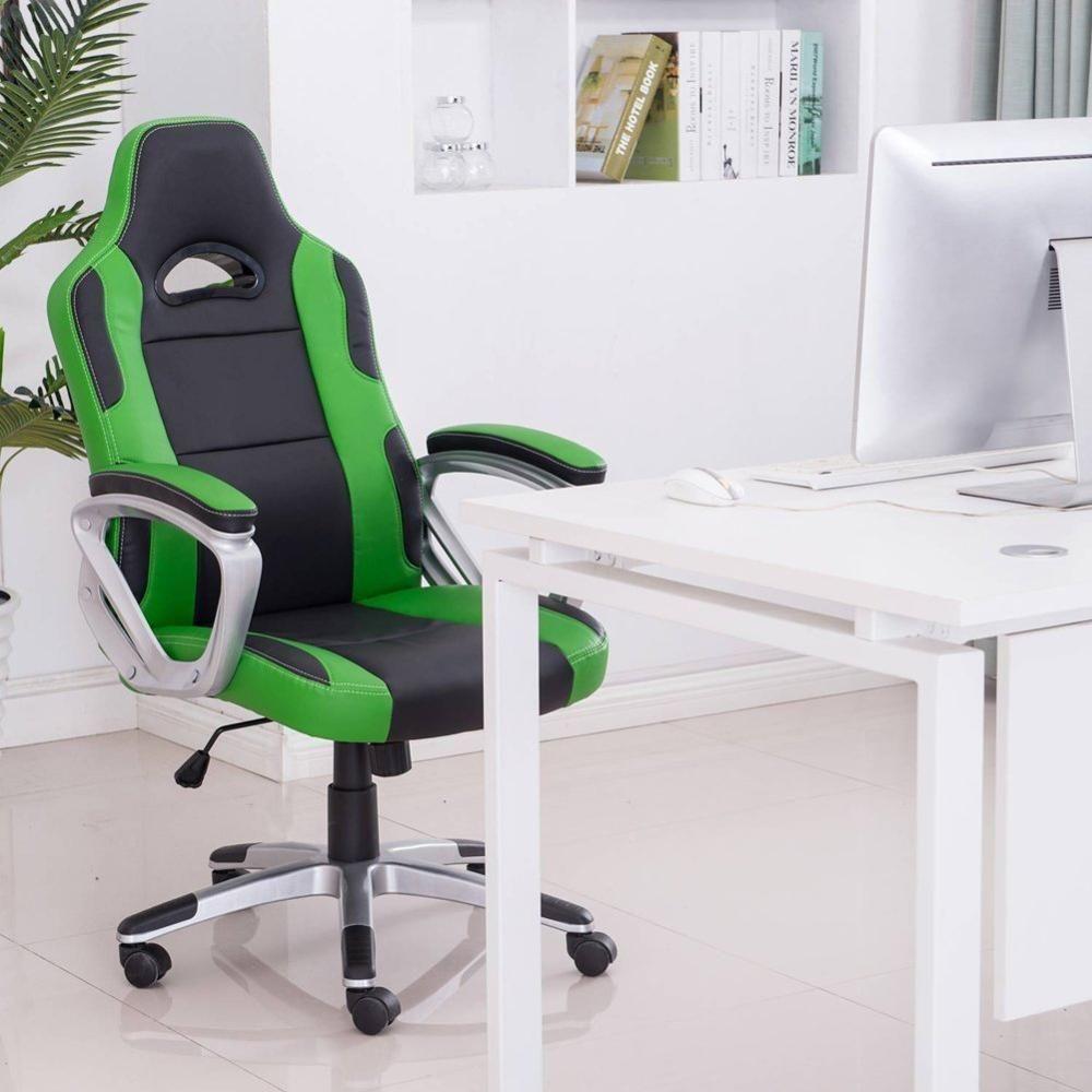 Gaming computer chair ergonomic office pc swivel desk
