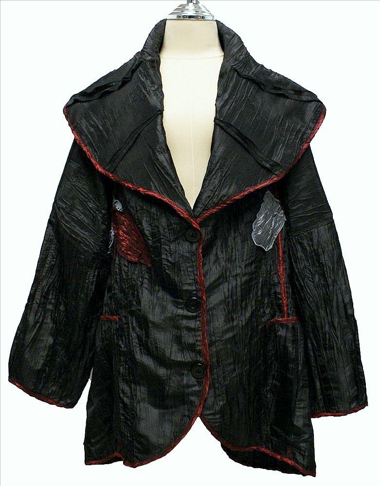 AKH Fashion Lagenlook Jacke Blazer gecrasht XXL Mode in schwarz bei www.modeolymp.lafeo.de