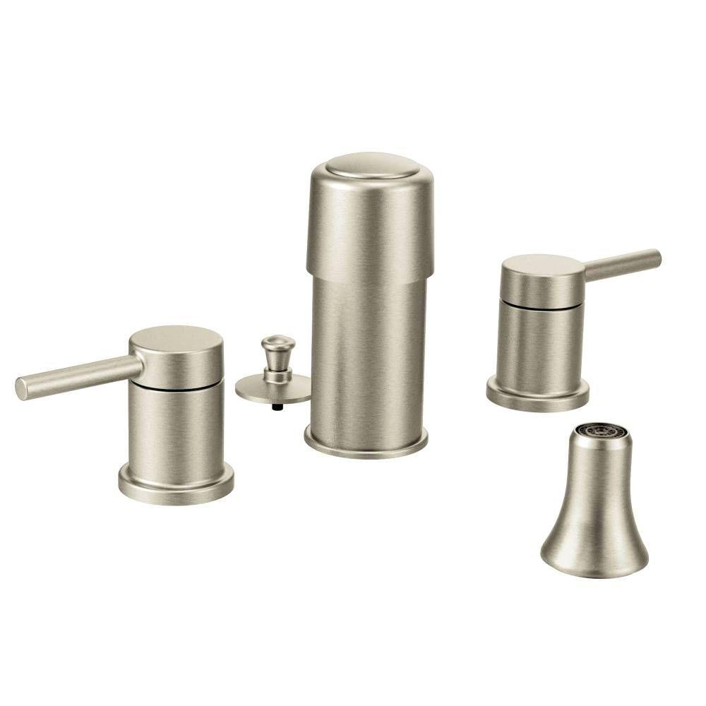 Moen Align 2 Handle Bidet Faucet Trim Kit In Chrome Valve Not Included Grey Bidet Faucets Faucet Faucet Repair
