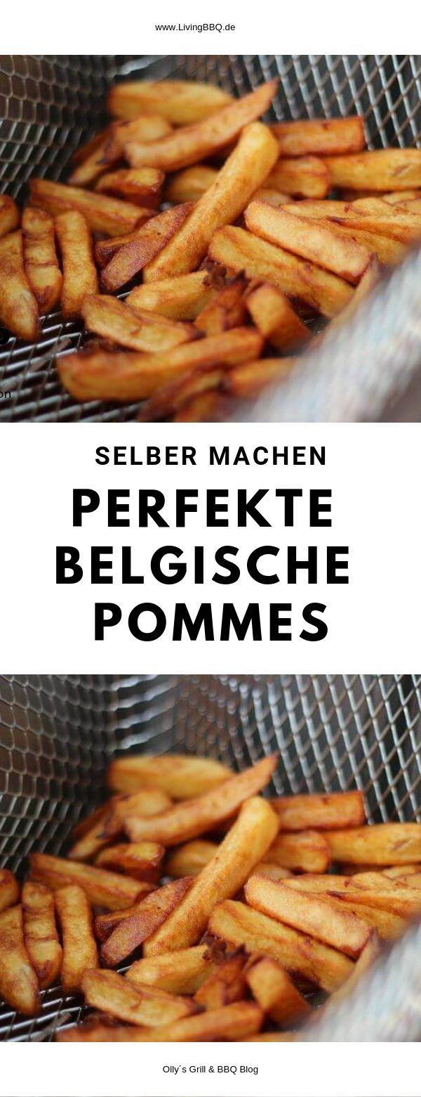 Perfekte belgische Pommes Frites selber machen, so geht´s! #pommesselbermachenofen