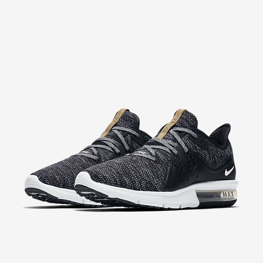 Womens Nike Air Max Sequent 3 Runner Black